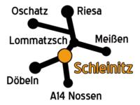 Anfahrt zur Scheune Schleinitz